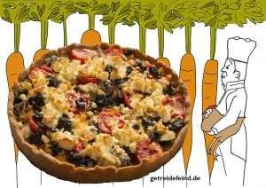 Glutenfreie mediterrane Quiche