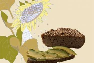 Buchweizenbrot mit Sonnenblumenkernen, glutenfrei, vegan
