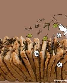 Kräuterzupfbrot, glutenfrei
