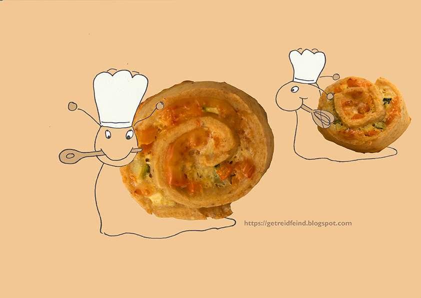 Pizzaschnecke, glutenfrei