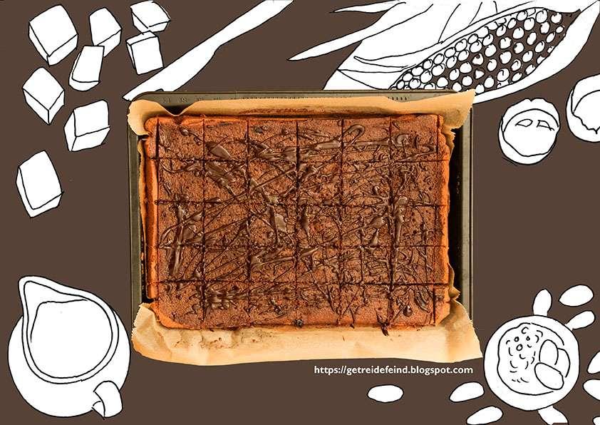 schokoladenblechkuchen, glutenfrei