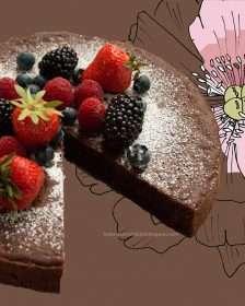 schokoladenkuchen, glutenfrei, vegan