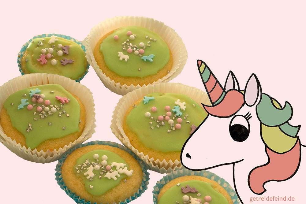 Einhornmuffin, glutenfrei