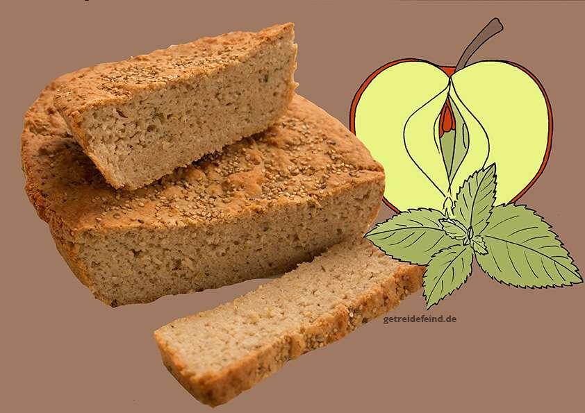 Glutenfreie Apfelminzbrot