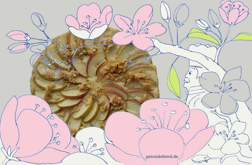 Glutenfreie Apfeltarte