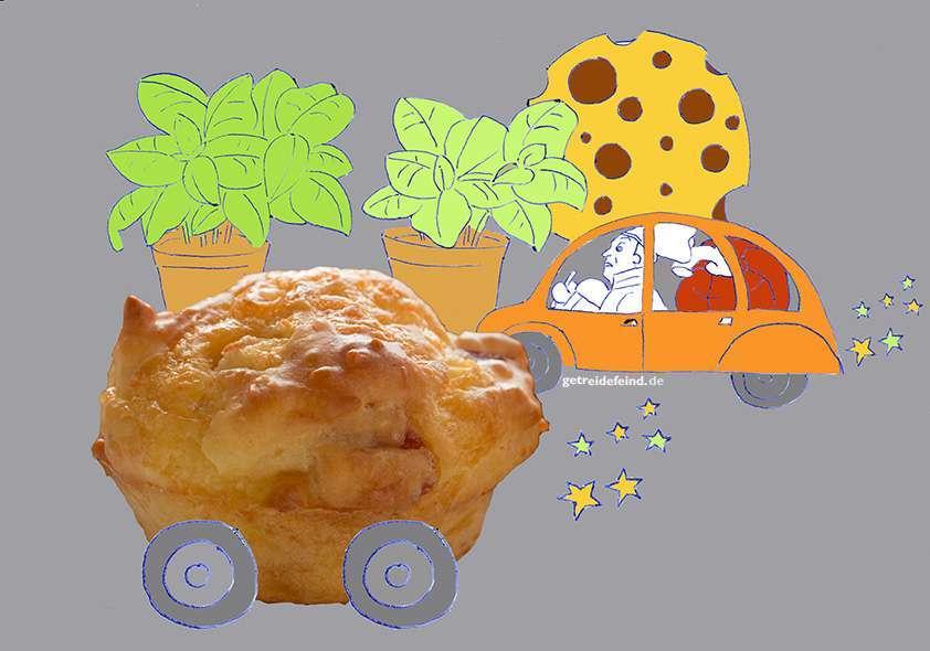 Herzhafte glutenfreie Muffin