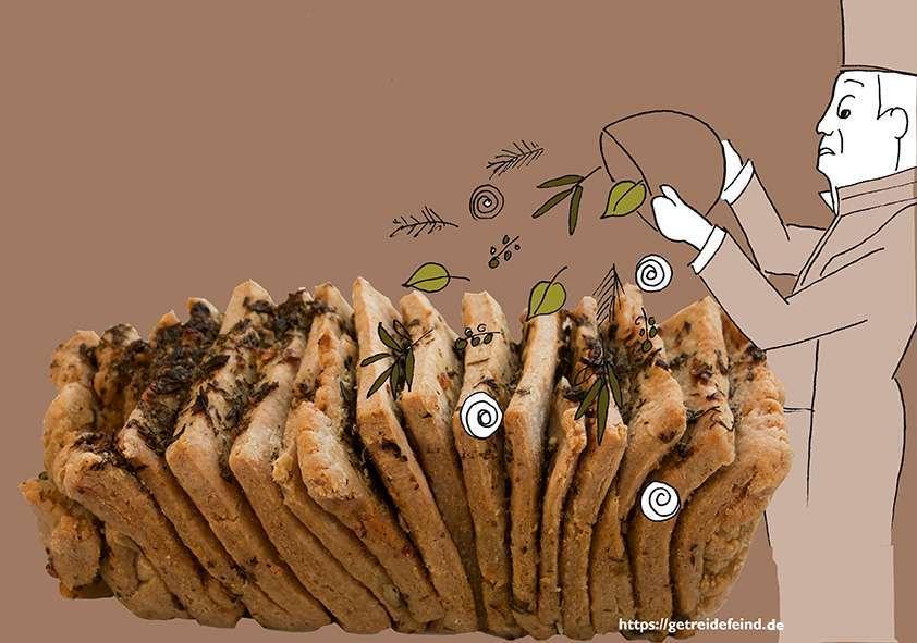 Glutenfreies Kräuterzupfbrot
