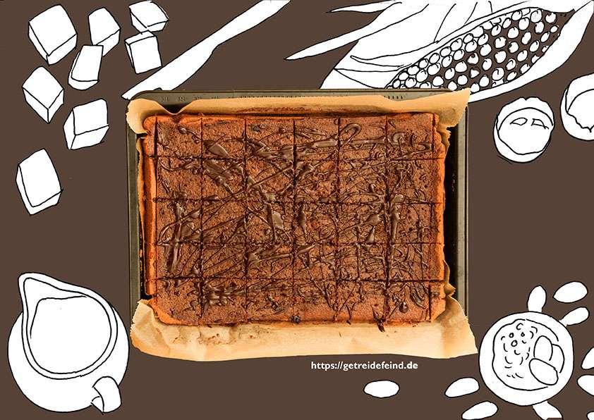 Glutenfreier Blechschokoladenkuchen