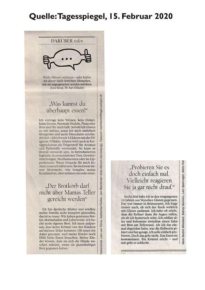 Tagesspiegel 15/02/2020 Interview Ann Rose