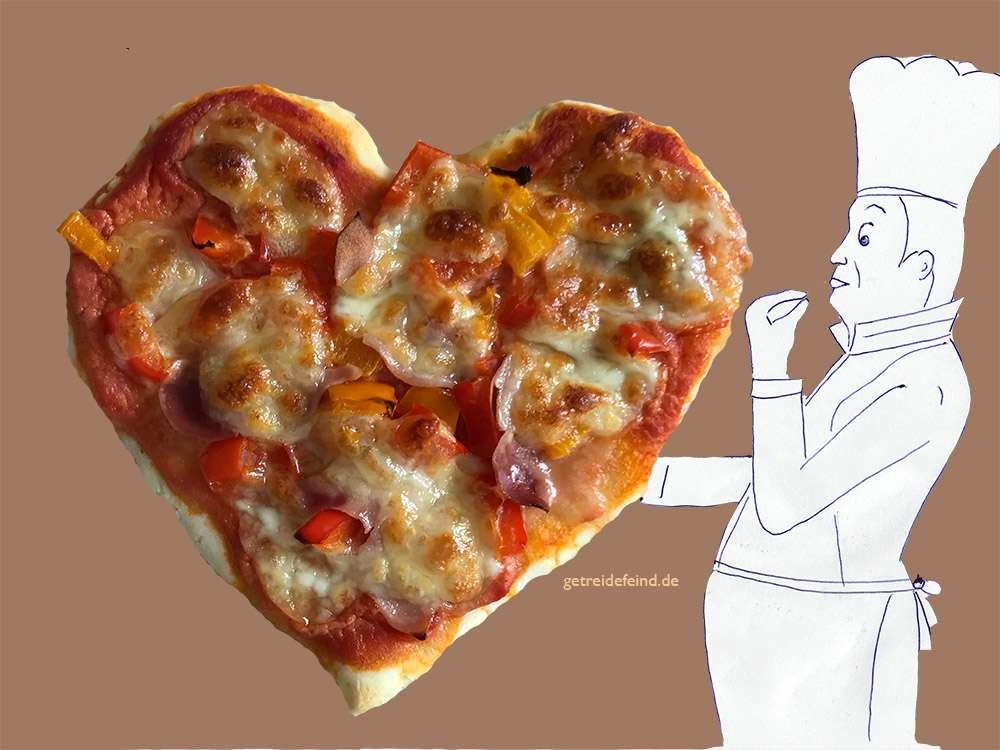 Glutenfreie Pizza ohne Hefe