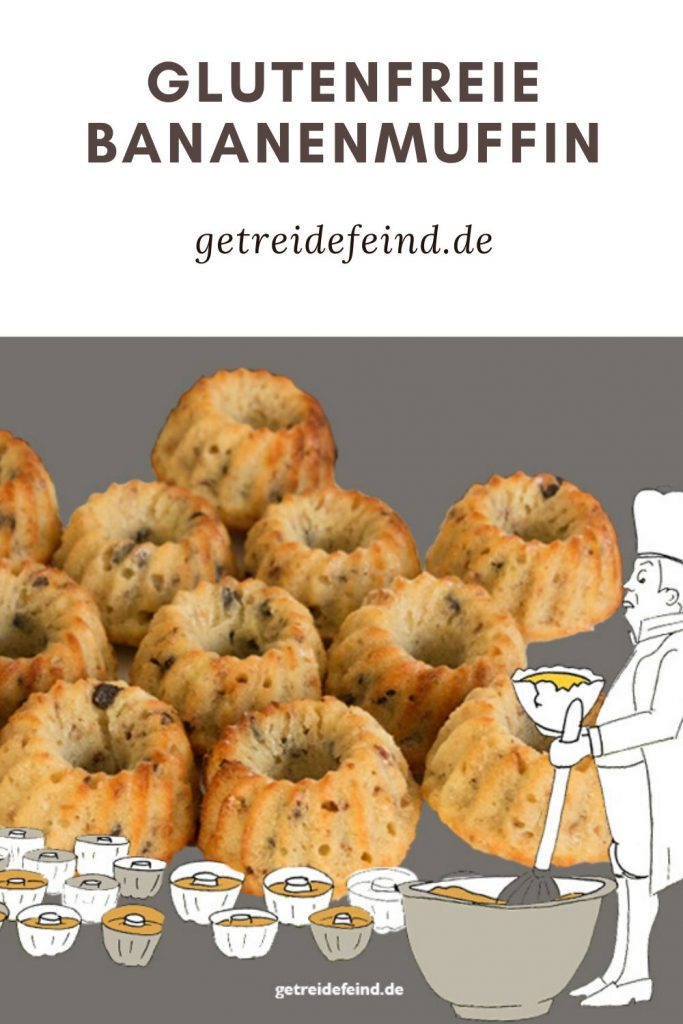 Glutenfreie Bananenmuffin