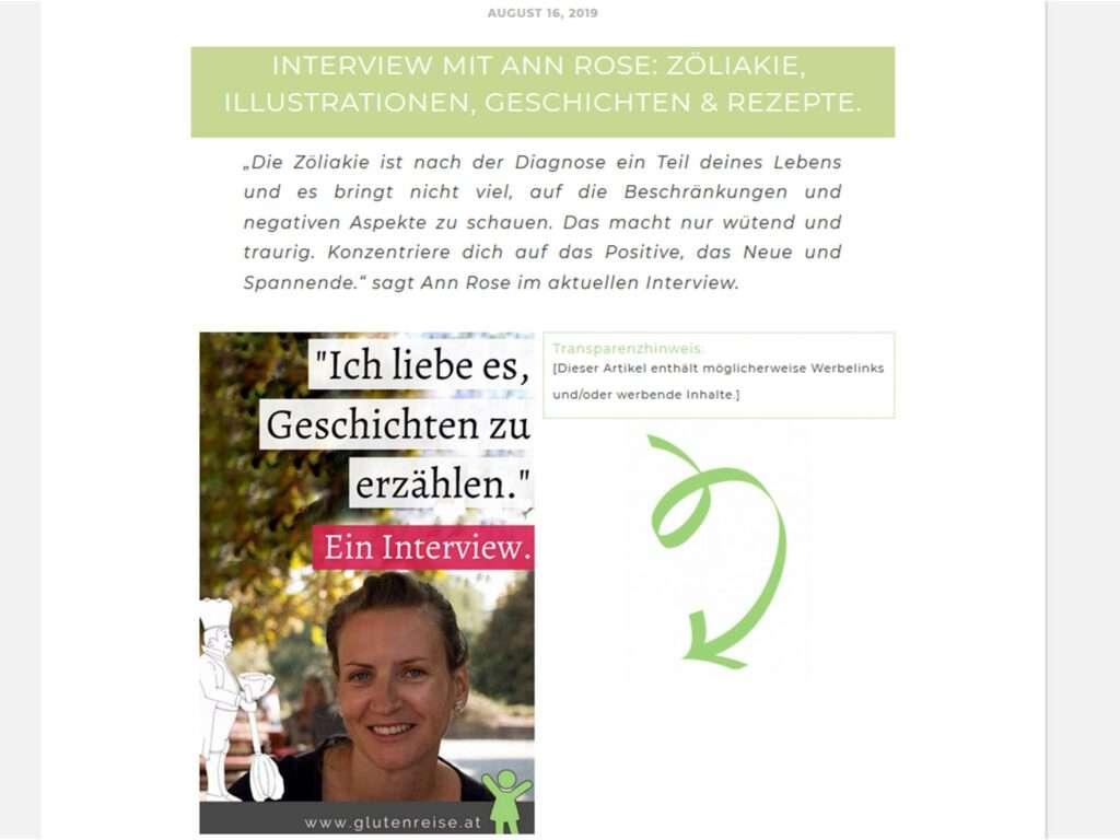 Interview mit Jenni Marieni auf glutenreise.at