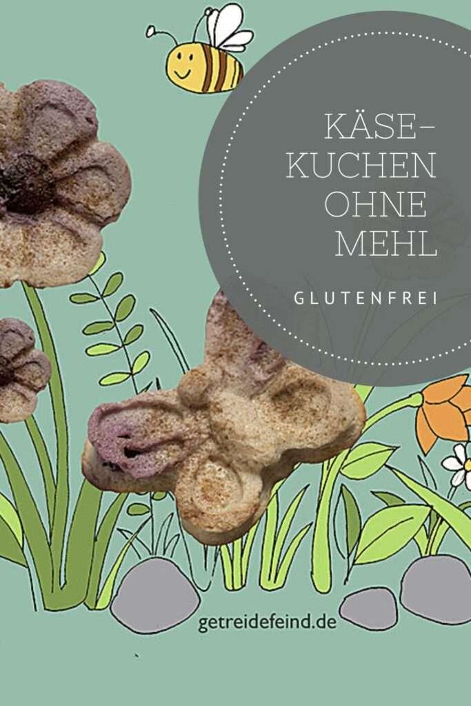 Glutenfreier Käsekuchen ohne Mehl und Zucker