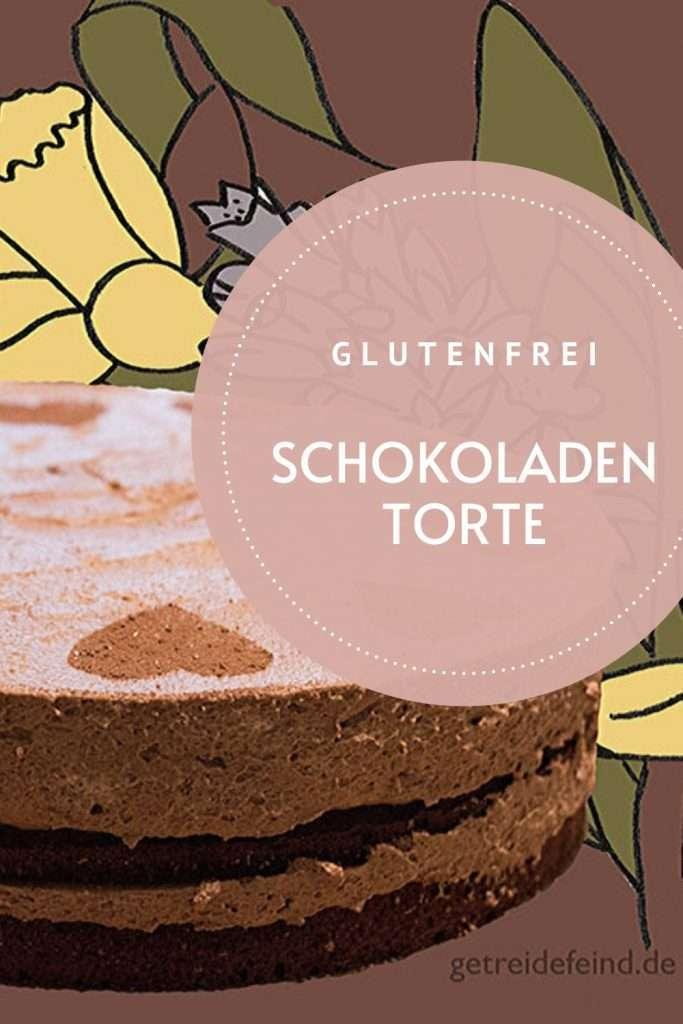 Schnelle Schokoladentorte, glutenfrei